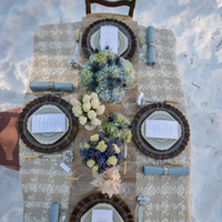 Winter Tablescape Textures
