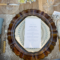 Wintry Vintage Place Setting