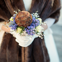 Hyacinth and Protea Bouquet