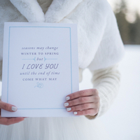 Romantic Winter Wedding Sign