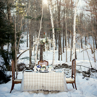 Snowy Winter Table Setup
