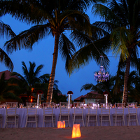 Romantic Beach Reception Scene