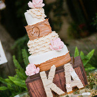Wooden Box Cake Stand