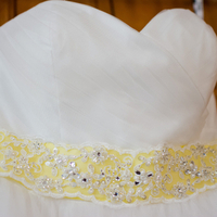 Yellow Bridal Gown Accent