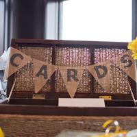 Burlap Card Box Banner