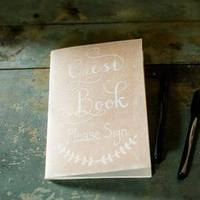 Sweet, Rustic Guest Book