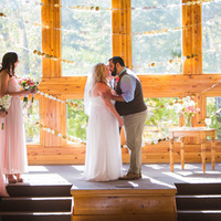 Gorgeous Rustic Ceremony Scene