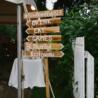 Rustic Wood Wedding Signage