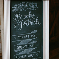 Romantic Chalkboard Sign