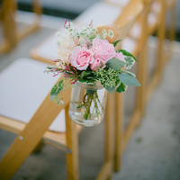 Pink and Green Aisle Markers