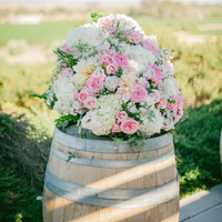 Vineyard Style Ceremony Flowers