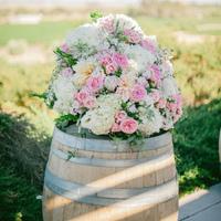 Vineyard Style Ceremony Flowers