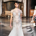 1422916155 thumb photo preview style br 15 01  short sleeve beaded lace trumpet wedding dress with a bateau neckline