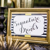 Striped Signature Drink Sign