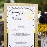 Sparkly Wedding Menu Card