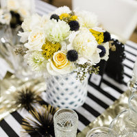 Black, White & Yellow Centerpieces