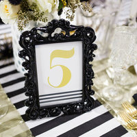 Glam Framed Table Numbers