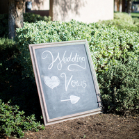 Chalkboard Directions Sign