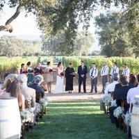 Vineyard Ceremony Setting