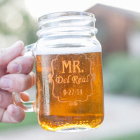 Mr. and Mrs. Mason Jars