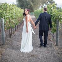 Bride and Groom Vineyard Walk