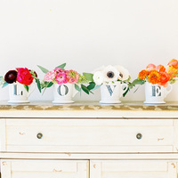 DIY: Valentine LOVE Centerpiece