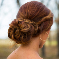 Romantic Twisted Chignon
