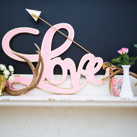 Love Sign Mantel Display
