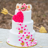 Whimsical Heart Wedding Cake
