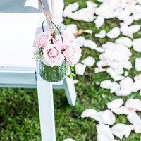 Pastel Pink Rose Aisle Markers