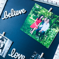 Chalkboard Photo Display