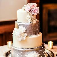 Glam Silver Wedding Cake