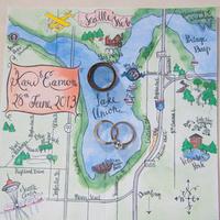 Hand-Illustrated Wedding Map