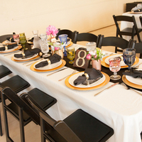Black and Gold Tablescapes