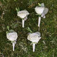 Rustic Rose Boutonnieres