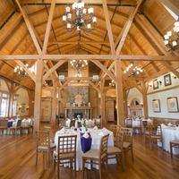 White Barn Wedding Decor