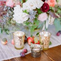 Gold Mercury Votive Candles