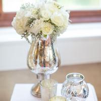 White Roses in Mercury Vase