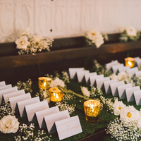 Mercury Glass Escort Card Table