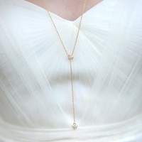 Bridal Lariat Necklace