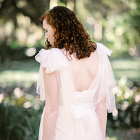 Whimsical Draped Gown Back
