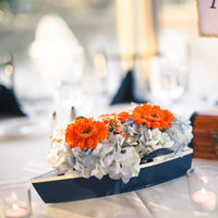 Flower Boat Centerpieces