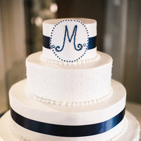 Nautical Monogram Wedding Cake