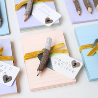 DIY: Dipped Pencil and Notebook Favors