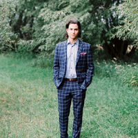 Blue Plaid Suit