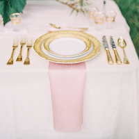 Pretty Pink and Gold Place Settings