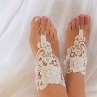 Favors & Gifts, Jewelry, Fashion, wedding shoes, Barefoot sandals, crochet, viennese lace