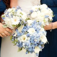 Blue and White Bouquets