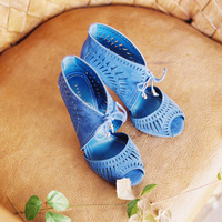 Blue Boho Chic Bridal Shoes