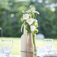 DIY Painted Bottle Centerpieces